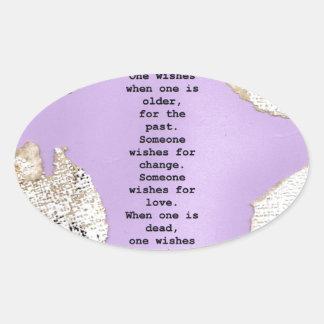 deseos calcomanías de ovales personalizadas