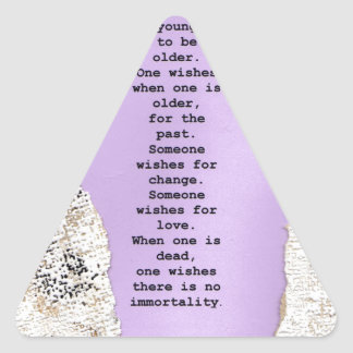 deseos pegatina triangular