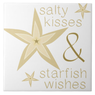 Deseos salados de las estrellas de mar de los teja