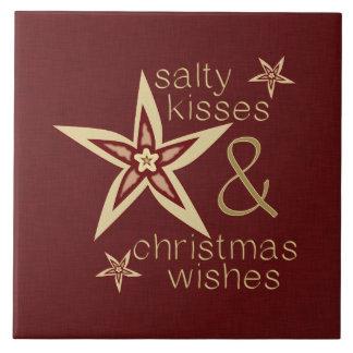 Deseos salados del navidad de los besos tejas  ceramicas