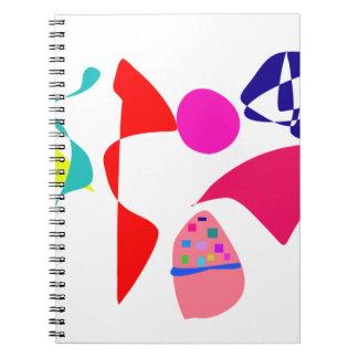 Desequilibrio de encargo del color de fondo cuadernos