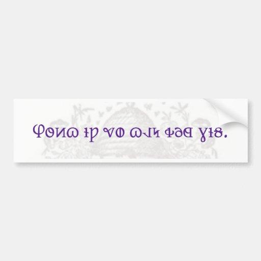 Deseret Alphabet bumper sticker