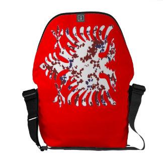 Desert Albanian Eagle 3D Messenger Bag