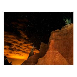 Desert at night postcard