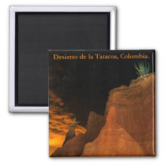 Desert at night, Tatacoa, Colombia 2 Inch Square Magnet