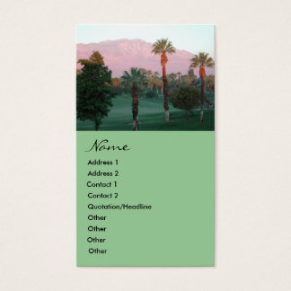Desert at Sunset Business Cards