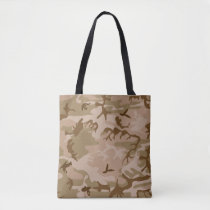 Desert Beige Brown Green Camo Camouflage Tote Bag