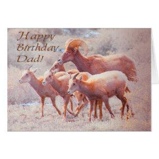 Desert Bighorn Dad Birthday Card