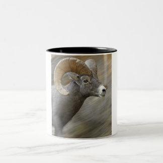 Desert Bighorn Ram (Ovis canadensis nelsoni) Two-Tone Coffee Mug