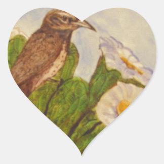 desert bird.jpg heart sticker