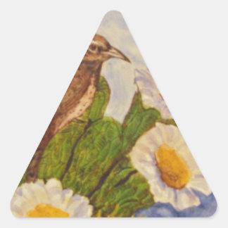 desert bird.jpg triangle sticker