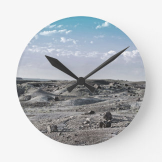 """Desert Blue Sky"" collection Round Clock"