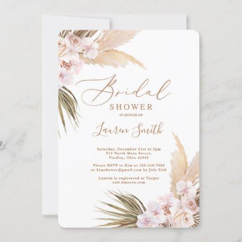 Desert boho bridal shower invitation