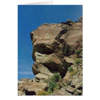Desert Boulder Greeting Card