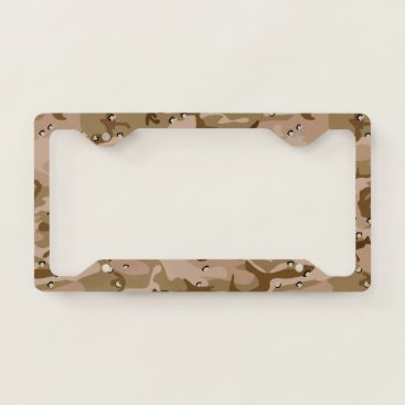produkto Desert Brown Camouflage. Camo your License Plate Frame
