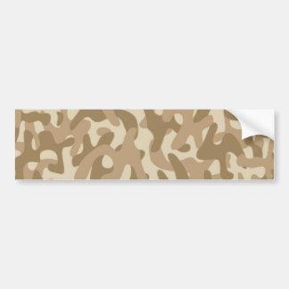 Desert Brown Camouflage Pattern Bumper Stickers