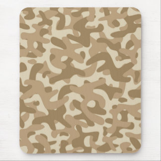 Desert Brown Camouflage Pattern Mousepads