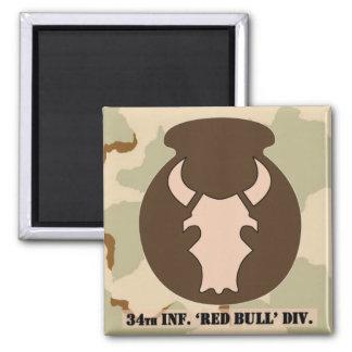 Desert Bull DCU-look emblem 2x2 magnet w/camo