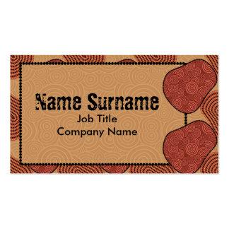 Desert, business card template