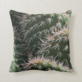 Desert Cactus and Thorns Throw Pillow