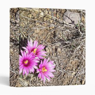 Desert Cactus Daisy 3 Ring Binder