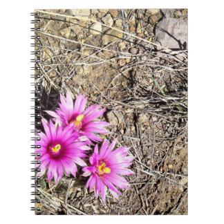 Desert Cactus Daisy Spiral Note Book