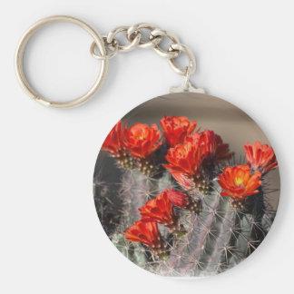 Desert Cactus Flower Keychain