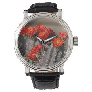 Desert Cactus Flower Wrist Watch