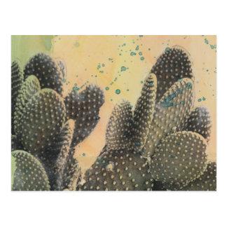 Desert Cactus | Green Splatter Postcard