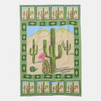 Desert Cactus kitchen towel