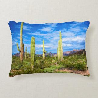 Desert cactus landscape, Arizona Decorative Pillow