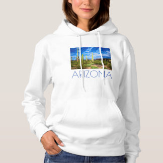 Desert cactus landscape, Arizona Hoodie