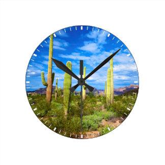 Desert cactus landscape, Arizona Round Clock