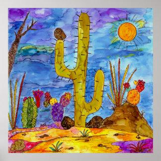 Desert Cactus Morning Poster (You can Customize)