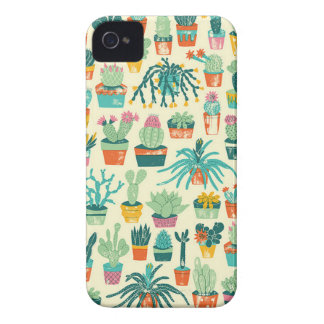 Desert Cactus Plant Pattern iPhone 4 Case