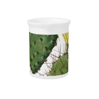 Desert Cactus Plant Pattern Vintage Drink Pitcher
