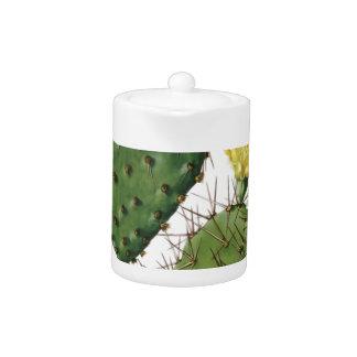 Desert Cactus Plant Pattern Vintage Teapot