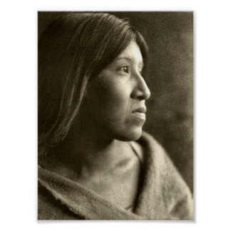 Desert Cahuilla woman Print