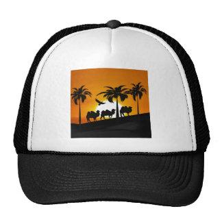 Desert Camels at sunset Trucker Hat
