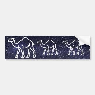 Desert Camels Pictograph Car Bumper Sticker
