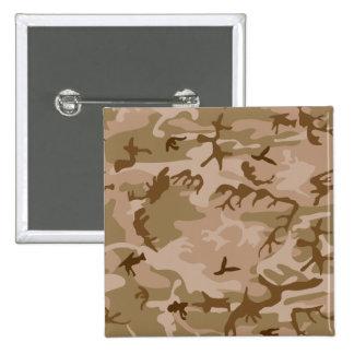 Desert Camo - Brown Camouflage Button