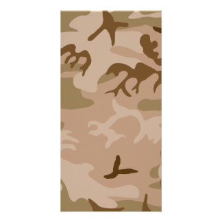 Desert Camo - Brown Camouflage Card
