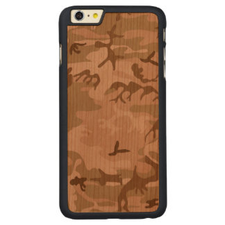 Desert Camo - Brown Camouflage Carved® Cherry iPhone 6 Plus Slim Case