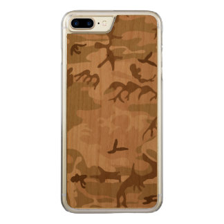 Desert Camo - Brown Camouflage Carved iPhone 7 Plus Case