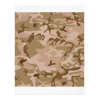 Desert Camo - Brown Camouflage Full Color Flyer