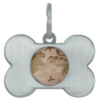 Desert Camo - Brown Camouflage Pet ID Tag