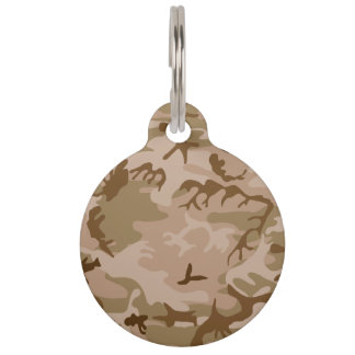 Desert Camo - Brown Camouflage Pet Name Tag