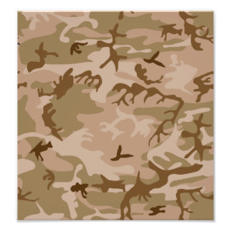 Desert Camo - Brown Camouflage Photo Print