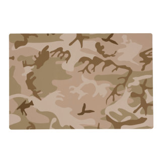 Desert Camo - Brown Camouflage Placemat