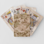 Desert Camo - Brown Camouflage Playing Cards
